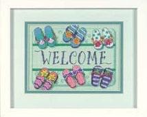 Cross Stitch Kit - Quick to Stitch - Welcome Mat