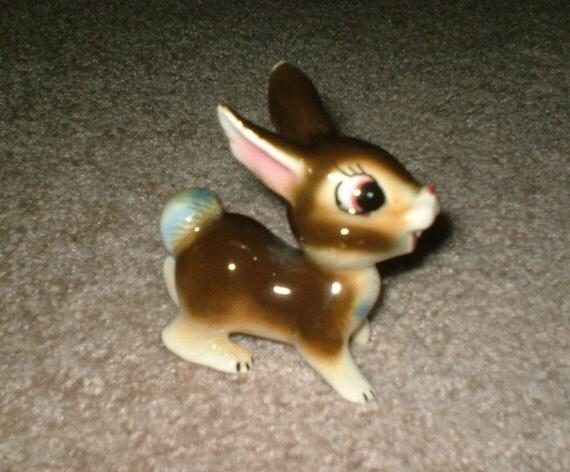 Adorable Vintage 50s Ceramic Disney Like Bunny Figurine