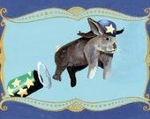 Postcard Circus - The flying bunny-