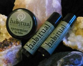 ORGANIC Lip Balm Tube - SPEARMINT - Handmade & 100% Natural / Chapstick. Great Gift