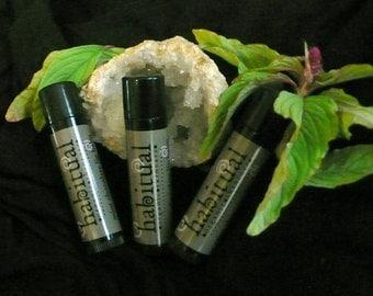 Organic Lip Balm Tube - Mint Chocolate - Handmade & 100% Natural / Beeswax Chapstick