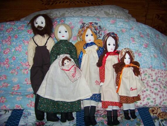 Five Doll Set Little House On Prairie Laura Ingalls Wilder
