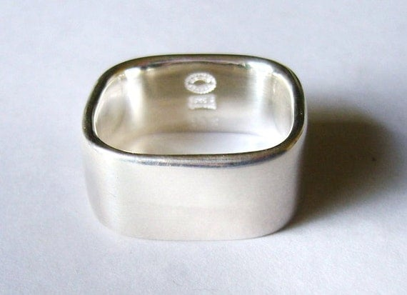 Vintage georg jensen ring sterling silver c 1980 band or for Georg jensen wedding rings
