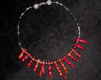 Branch Coral and Hematite Necklace