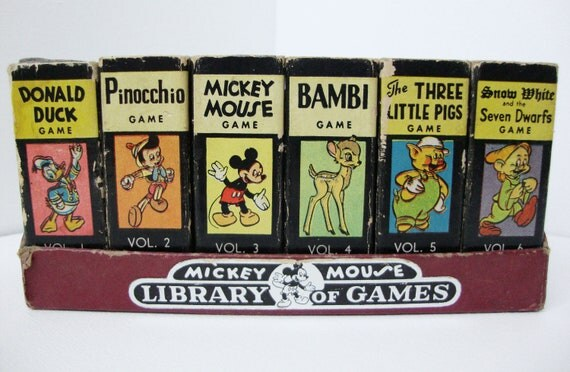 Walt Disneys Mickey Mouse Library of Games Playing Cards 1946-1948