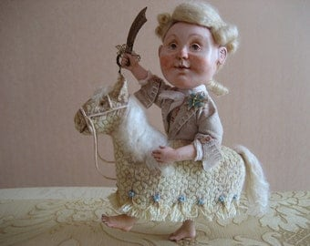 Art doll The Prince on a white horse