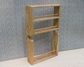 Solid Oak Inside Cabinet Spice Rack - 10 inch