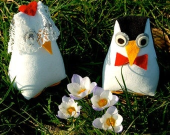 Wedding Owls / Penguins cute and squishy