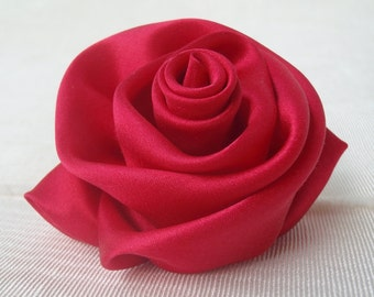 Flower Pin - Silk Satin Brooch