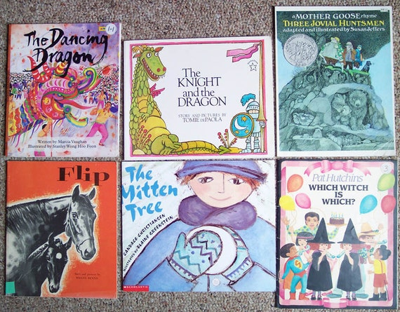Vintage Childrens Picture Book Collection - Lot of 12 Paperback Kids Books - Teacher, Daycare, Storytime
