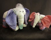 2 Diaper Elephants - CUSTOM MADE Big and Baby Diaper Animals, Baby Shower Decoration, Mom to Be Gift, Nursery Decoration