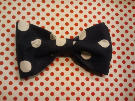 Blake clip-on polka dot bowtie made to order and sold separately