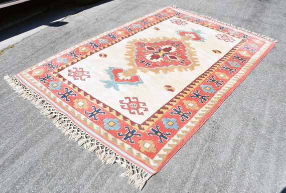 Turkish Handmade Rug -- 8 ft. 4 in. by 5 ft. 7 in.