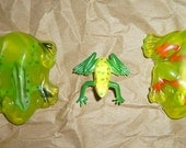 Frog SOAP bar for Kids with frog inside the soap with a Charm INSIDE