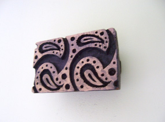 Hand Carved Antique India  Paisley Wood Block Stamp,wall hanging, ethnic decor