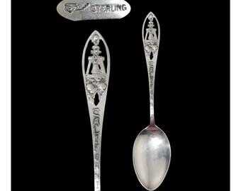 Vintage Sterling Silver California Robbins Co. Pierced Souvenir Spoon