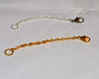 Necklace Extenders, Silver and Gold