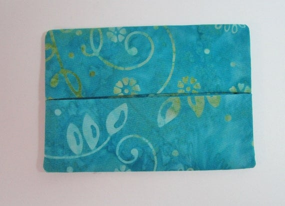Clearance Womens Pocket Tissue Holder Cozy Pouch Aqua Blue
