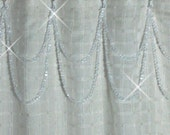 Shower Curtain Bling,,,Double Swag......Soft Crystal Resin
