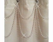 Pearl Resin Double Swag Shower Curtain Beaded Accessory.