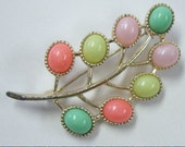 "Vintage Sarah Coventry ""Candy Land"" Pastel Brooch Pin"