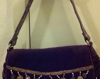 Vintage Purple Cloth Purse