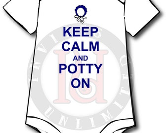 Boys Keep Calm Onesie
