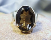 ON SALE NOW - Smokey Topaz and Sterling Silver Ring