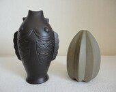 Vintage YiXing Ceramic Chinese Vases - Set of 2
