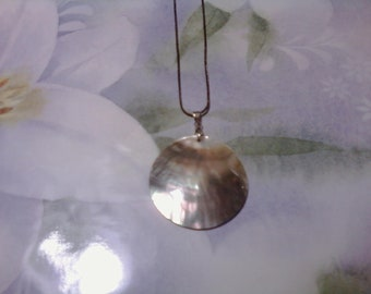 Abalone Necklace Shell Disc