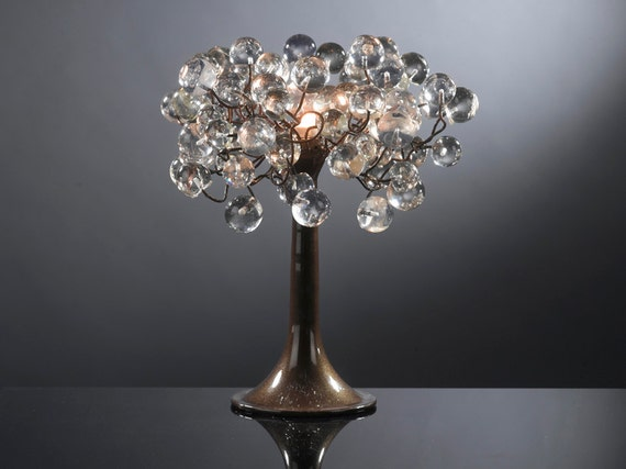 Transparent Clear bubble Table lamp with metal wires, small table lamp, clear bubbles lighter.