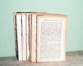 S u p p l i e s - 100 Vintage Book Pages for Mixed Media Artwork - Origami - Papercrafts.