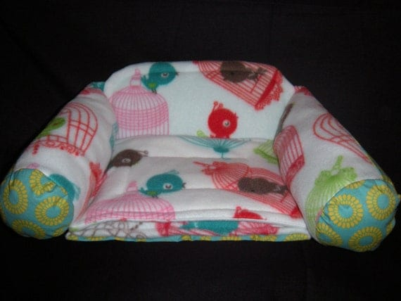 Special Order for Tracy Freebird Couch with Golden Flowers on Turquoise background for Small Pets