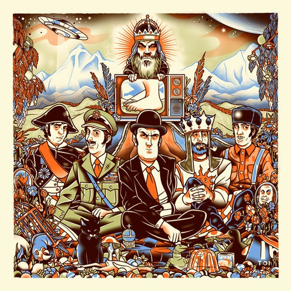 Their Satanic Majesties Flying Circus - Screenprint