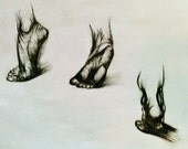 Sketch-Composition/Movement in Feet