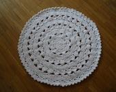 crochet white rug