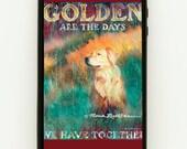 iPhone 4, 5 or Galaxy III Rubber Cover - Golden Retriever  Patrick Reid O'Brien