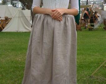 Ladies 18th Century Colonial Linen Under Petticoat Georgian