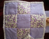"""Hand made Quilted patchwork bed cover for 11.5 """"fashion doll  Barbie Bratz etc  Lilac"""