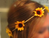 Sunflower Hair Crown