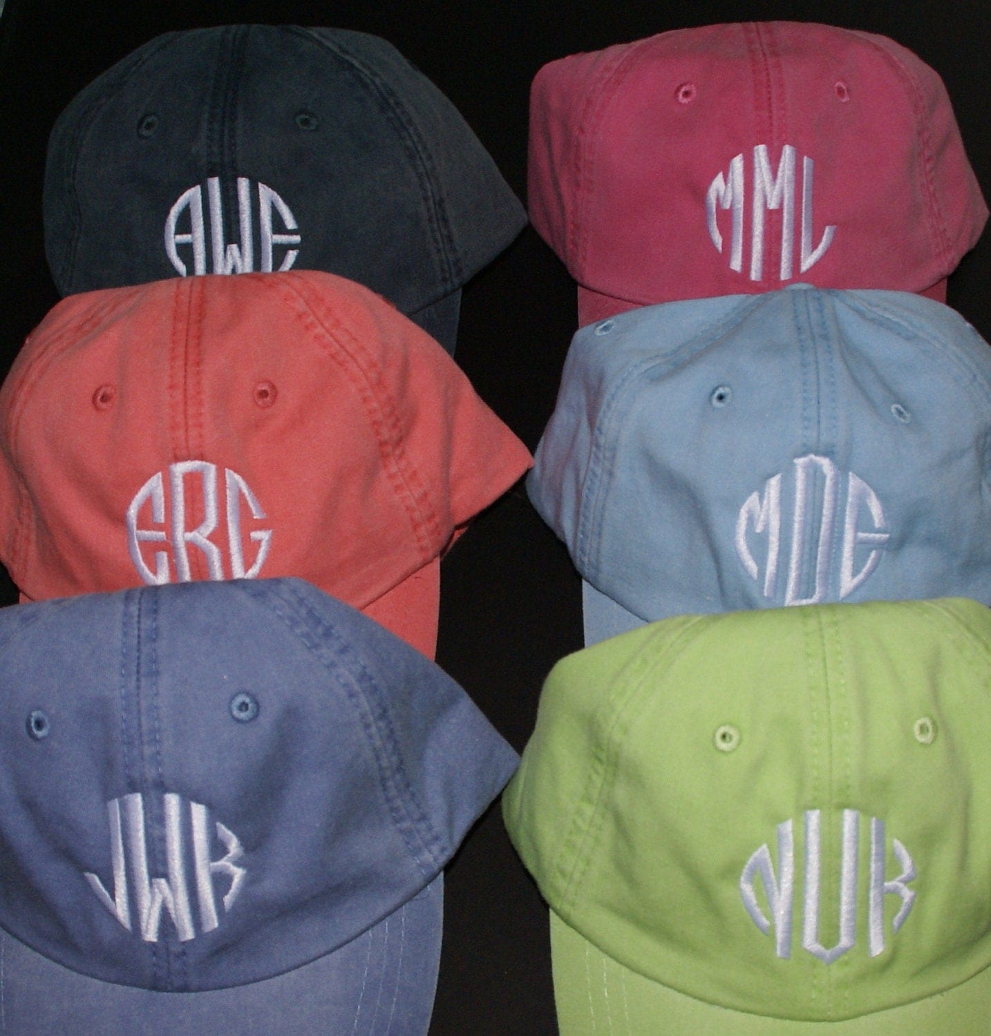 ladies u0026 39  monogrammed baseball cap by mad about monograms
