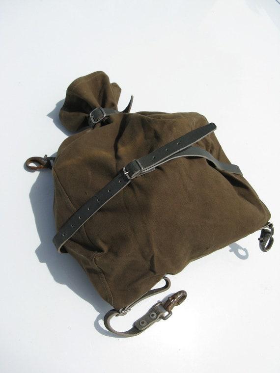 Vintage Scandinavian Scan Cotton Canvas Horse Donkey Mule Tack Bagpack Rucksack