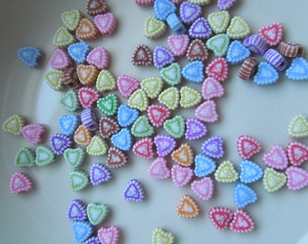 Heart Beads - Assorted Colors 5mm