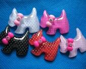 Poka Dot Dog Resin Flatback Cabochon-5 colors