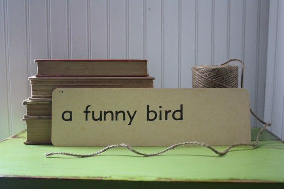 vintage flash card - a funny bird