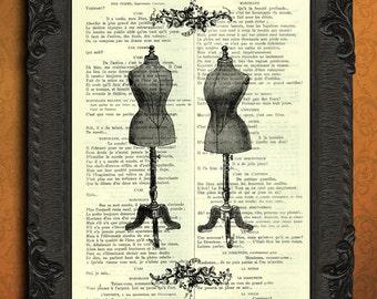 mannequin dress form female mannequin print mannequin vintage print
