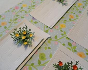 Door Die cuts and Flower Swags Set of 5