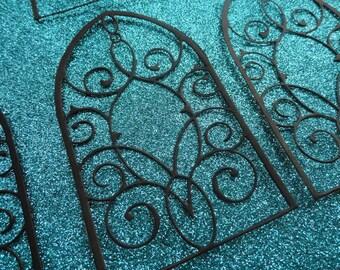 Die Cut Black Grand Gothic Iron Work