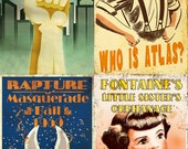 """Set of 4 2x3"""" Bioshock magnets - Welcome to Rapture"""