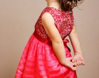 Girls pink dress spring summer special occasion christmas ny birthday /hmet